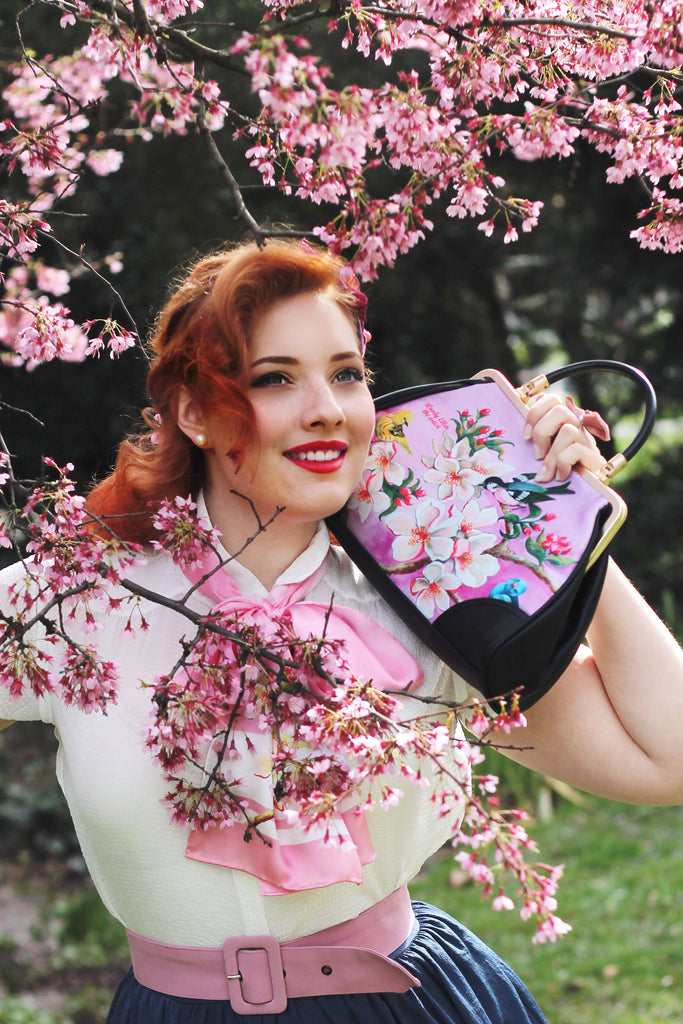Retro handbag, vintage handbag, Bloom