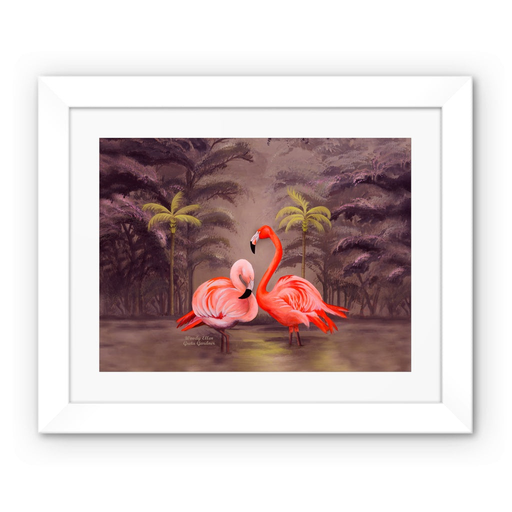 Flamingo design Framed Print