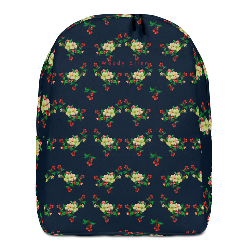Blossom Navy Minimalist Backpack