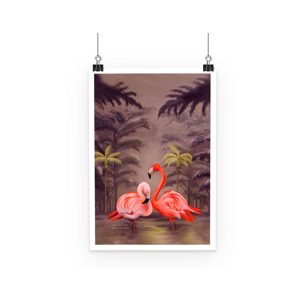 Flamingo design Poster