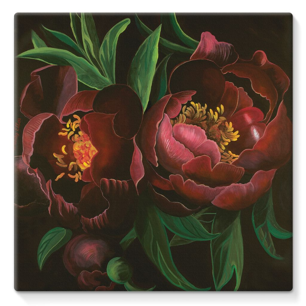 Night Bloom design Stretched Canvas