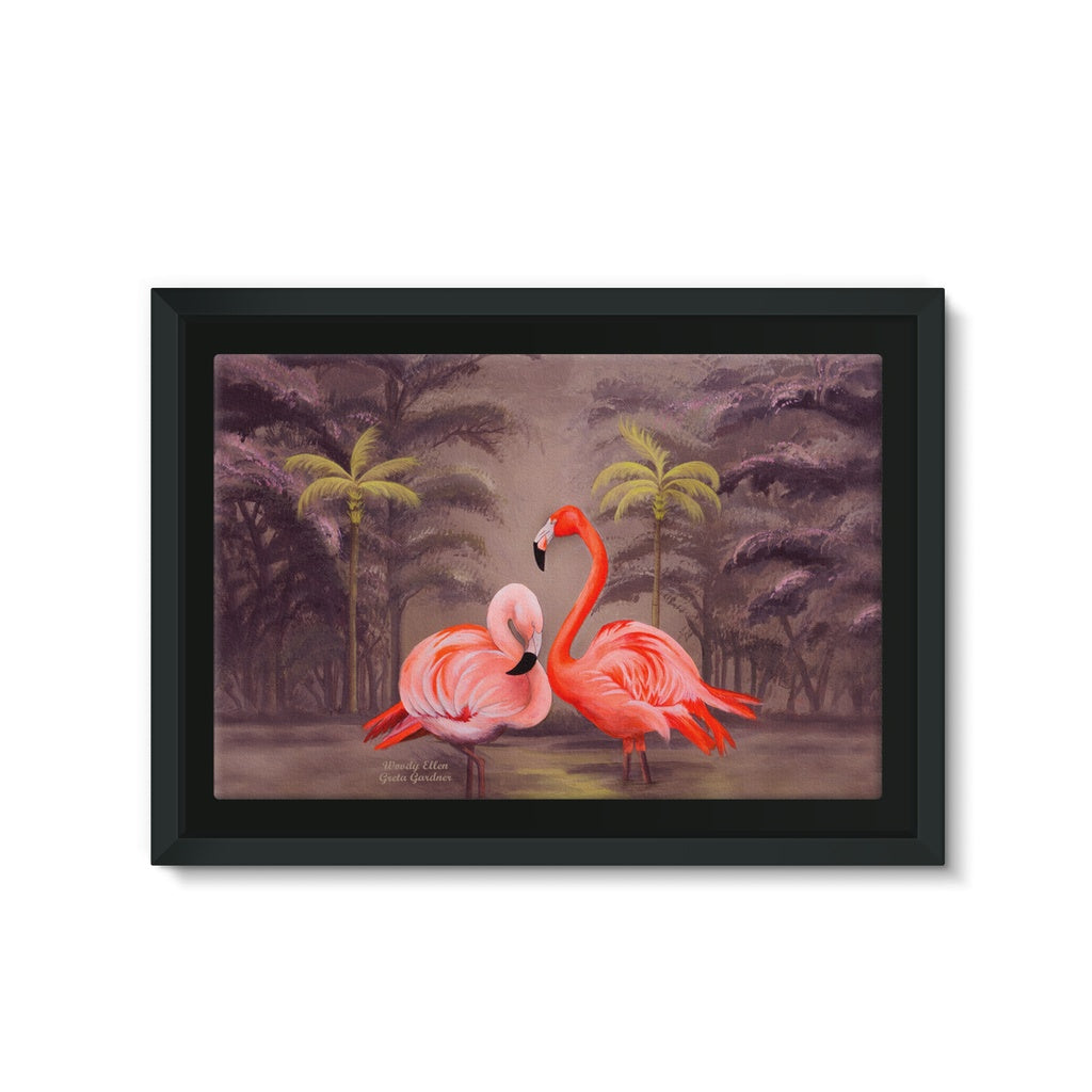 Flamingo design Framed Canvas