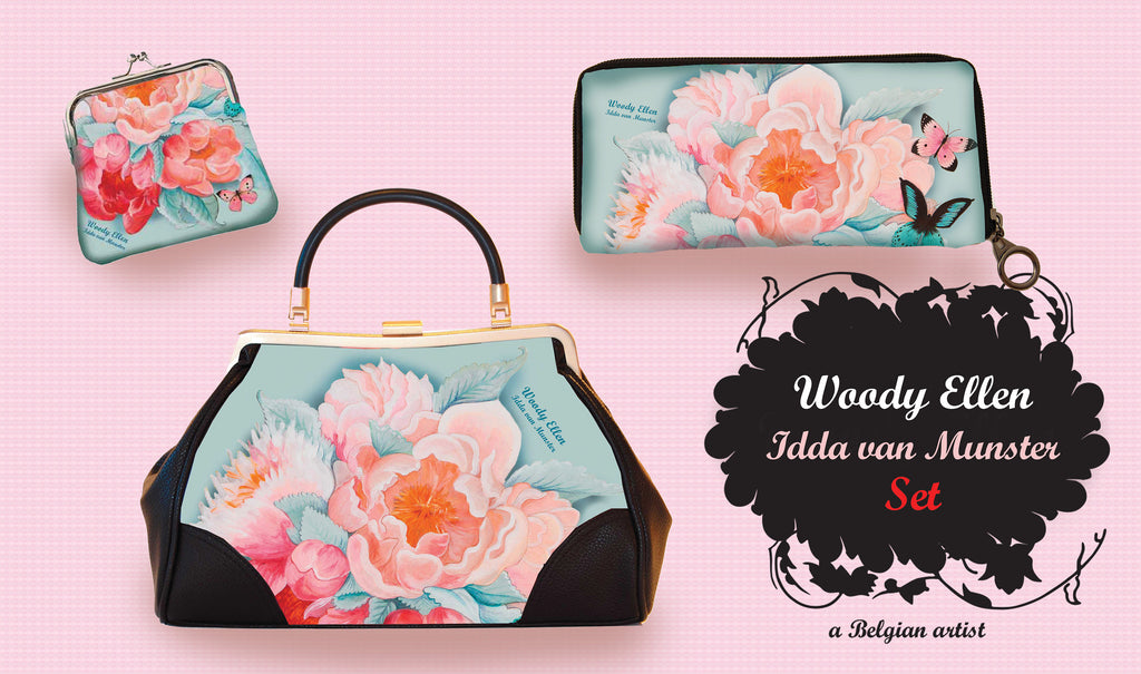retro handbag set, vintage handbag set, Idda design, christmas, gift, gift for her, Woody Ellen handbag, christmas gift ideas,valentine gift