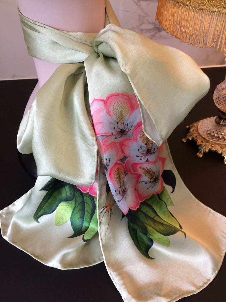 Silk scarf,Birdgirl,birthday gift,gifts for her,gifts for mom,Woody Ellen handbag,christmas gifts,christmas gift ideas,new year gifts ideas