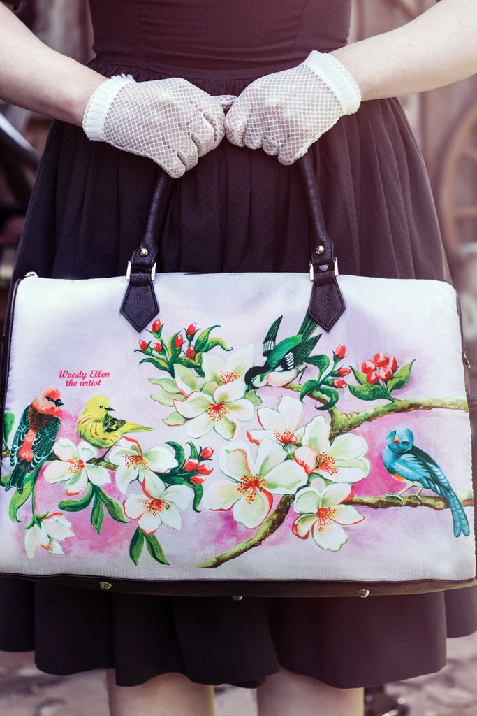 Travel bag,Bloom,weekend bag,birthday gift,gifts for her,gifts for mom,Woody Ellen handbag,christmas gifts,christmas gift ideas,gifts
