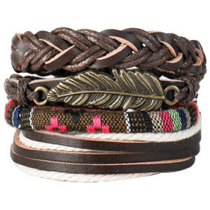 Vintage Charm Leather Bracelet (8 variants)