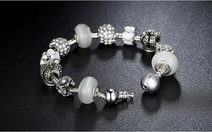 Silver Royal Crown Charms Bracelet (4 variants)