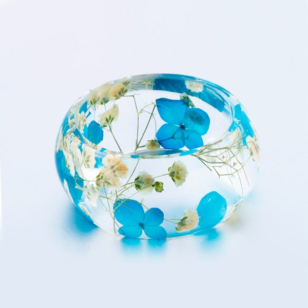 Dry Flowers Big Wide Cuff Bracelet
