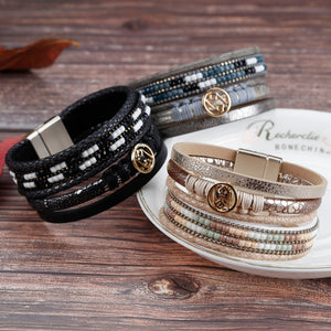 Bohemian Metal Charm Multilayer Bracelet (3 variants)