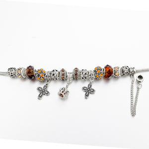 Silver Crystal Crown Bracelet - Women Bracelets