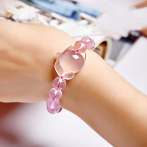 Rose Quartz Fox Bracelet