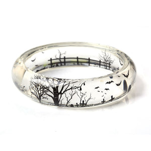 Tree And Bat Resin Bracelet - Women Bracelets