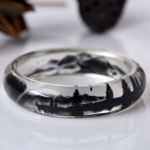 Deer In Forest Resin Bracelet - Women Bracelets