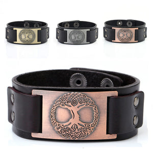 Tree of Life Leather Bracelet
