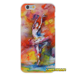 promo code d288f 75b9f Ballerina Dancing Dance Girl Soft Silicone phone Case For iPhone X 4 ...