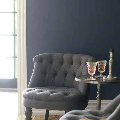 Benjamin Moore's 2130-40 Black Pepper in family room.