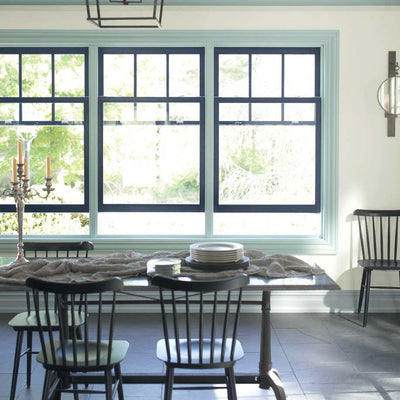 Benjamin Moore's OC-130 Cloud White in a kitchen.