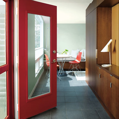 Benjamin Moore's AF-290 Caliente 2018 Color of the Year on doors. Shop trend forward and timeless pops of color.