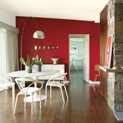 Benjamin Moore's AF-290 Caliente 2018 Color of the Year in a kitchen. Shop trend forward and timeless pops of color.