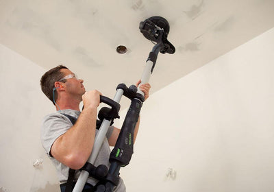 Festool Drywall Sander LHS 225 EQ-Plus in use available at The Color House.