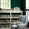 Benjamin Moore's 2041-10 Hunter Green in family room.