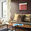 Benjamin Moore's 2115-20 Incense Stick a dark brown in a living room. Shop neutral paint tones from 2018 color trends.