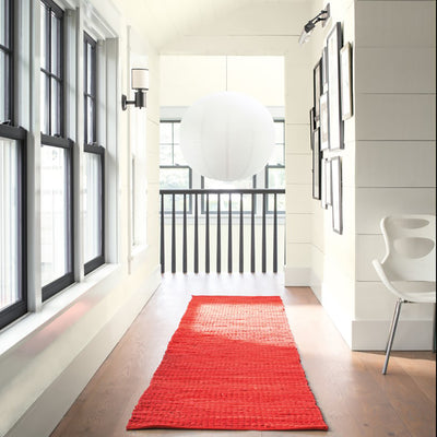 Benjamin Moore's OC-69 White Opulence in hallways. Shop soft white paint colors from 2018 color trends.