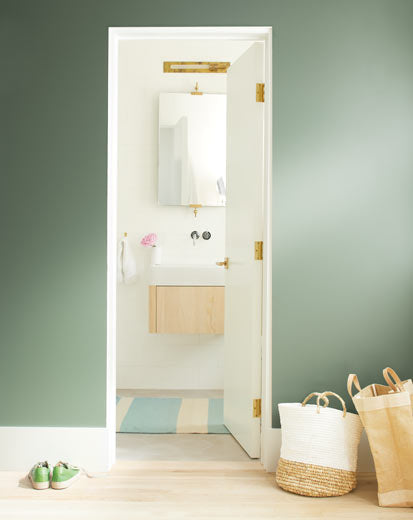 Benjamin Moore Color HC-125 Cushin Green