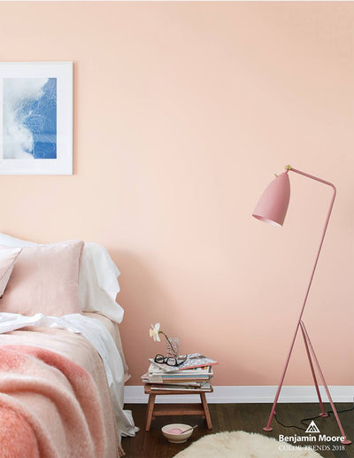 Benjamin Moore Pleasant Pink Bedroom