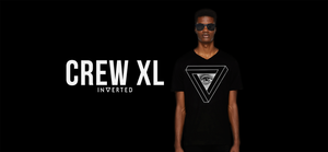 Playera streetwear black triangulo negra INVERTED