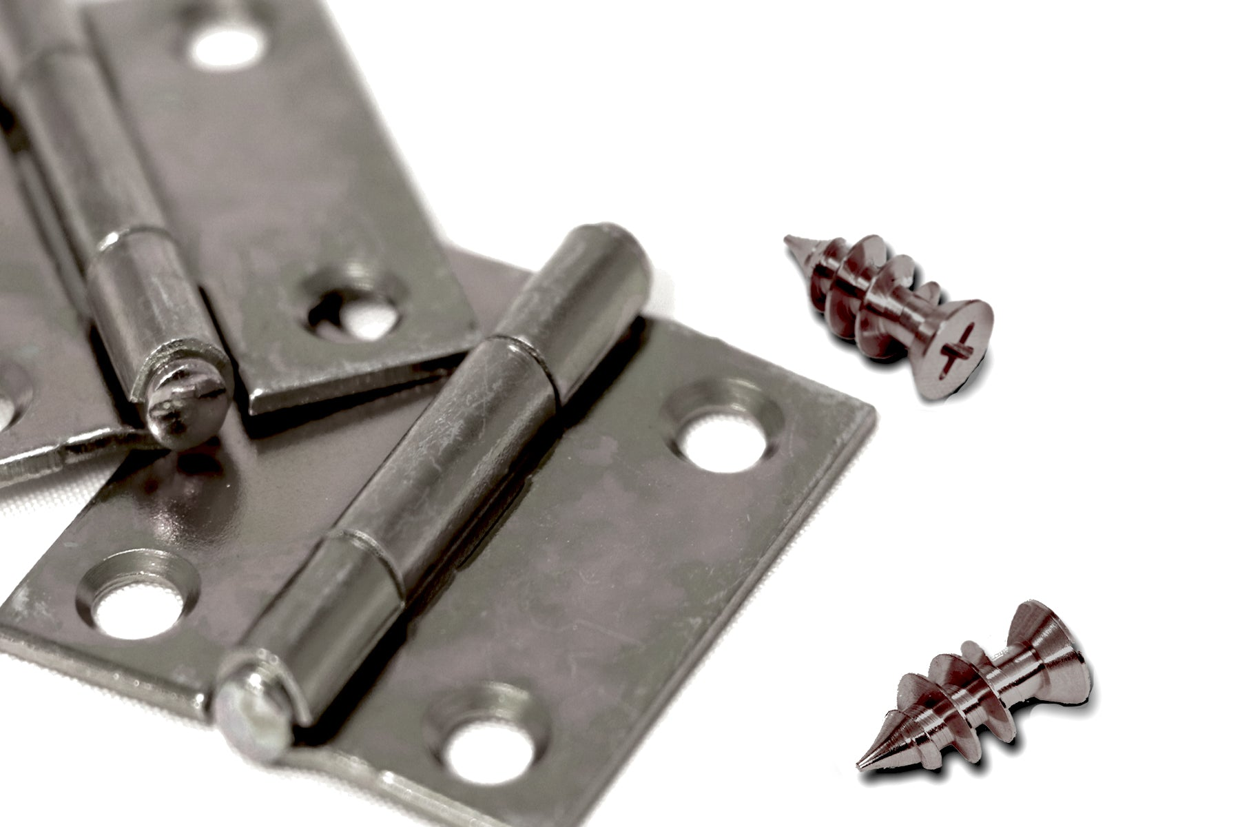 Nickel Rehinge Cabinet Reapir Screw Fix Loose Hinges