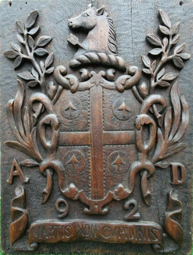 Architectural Element English Oak Coat of Arms