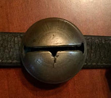 Sleigh Bells on Leather Strap Antique