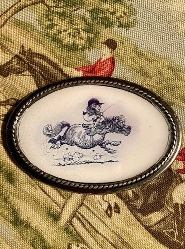 Belt Buckle Thelwell Ponies Handmade