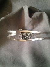 Bracelet Bangle Sterling Silver Mare with Foal