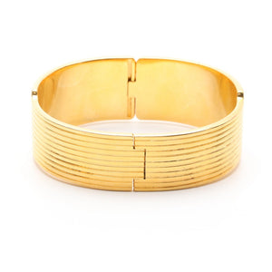 Bracelet - Michaela Fry Wien Equestrian Gold Bangle Bracelet - Estate