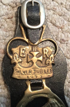 Brasses on Leather - English - Queen Elizabeth ll Jubilee  - Vintage