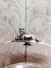 Bridal Basket - Silver Wash - Victorian Era - Fox and Bird on Handle - Leaf and Male Facial Form Feet