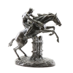 Sculpture - Bronze - By Antoine Bofill - Jockey Taking a Hedge
