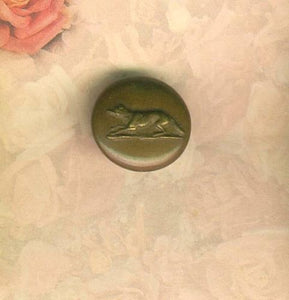 Button -Brass - Running Fox