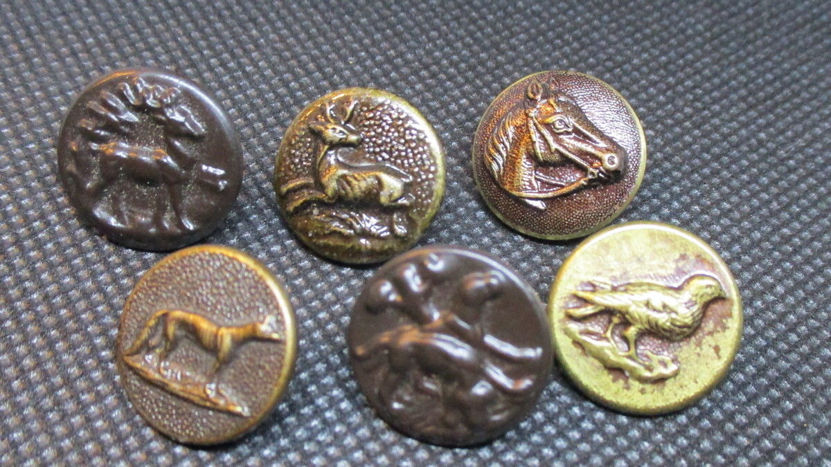 Buttons - Bronze - Brass  - Antique