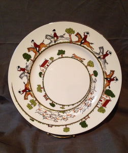 "China - Royal Staffordshire - Wedgewood - Hunt Scene - 10 1/2"" Dinner Plate"