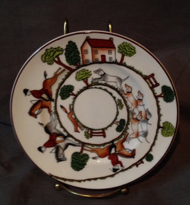 "China - Crown Staffordshire - Wedgewood - Hunt Scene - 6"" Bread and Butter Plate"