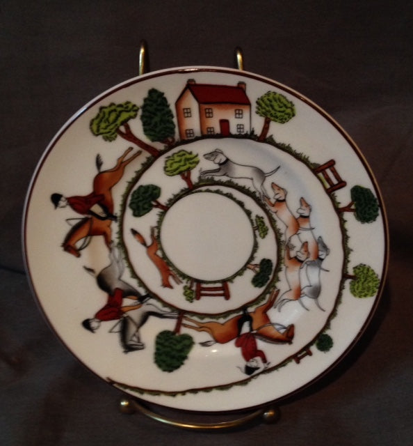 China - Crown Staffordshire - Wedgewood - Hunt Scene - 6