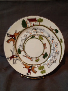 "China - Crown Staffordshire - Wedgewood -  Hunt Scene - 7"" Dessert Plates"