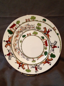 "China - Wedgewood - Royal Staffordshire - Hunt Scene - 9"" Luncheon Plate"