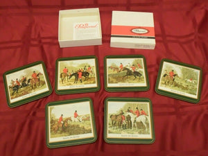 Coasters Pimpernel Fox Herring Fox Hunt Scenes Set of Six Vintage
