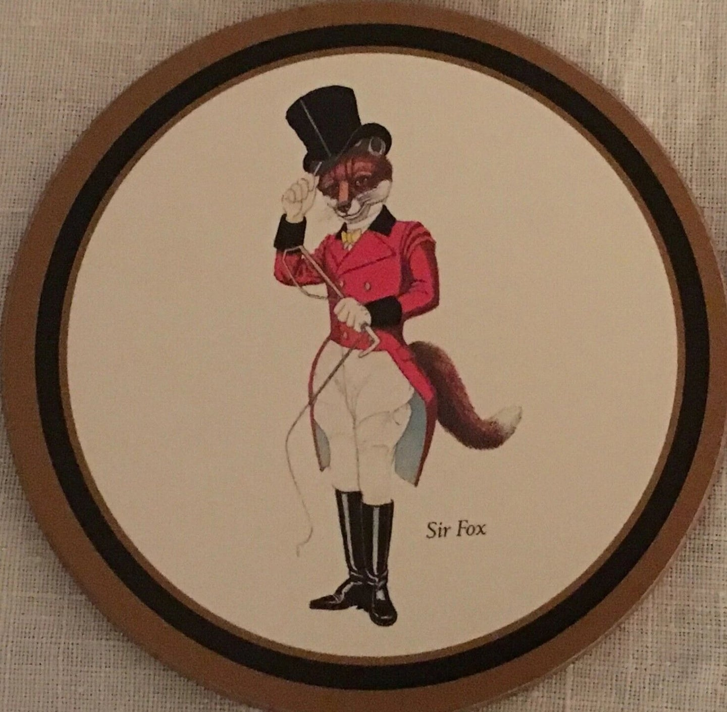 Coasters Sir Fox by Pimpernel Set of Six