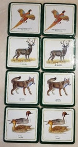 Coasters Wildlife Collection Set of Eight