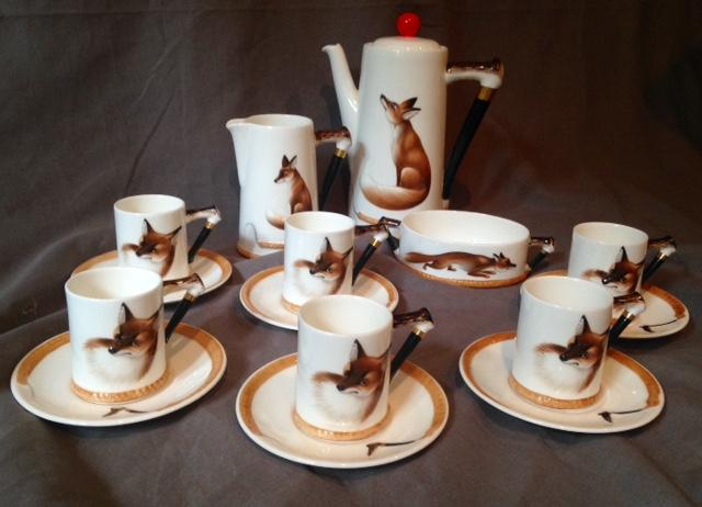 Royal Doulton Reynard the Fox Demitasse Set - 16 Pieces - Six Piece Setting